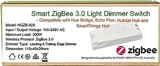 Smart ZigBee - Interruptor regulador de intensidad de luz para Echo Plus, ZigBee Bridge, SmartThings Hub, iluminador Zigbe...