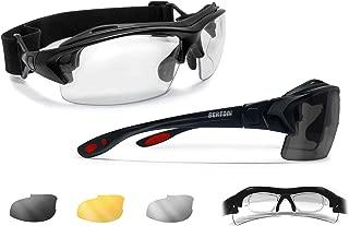 Prescription Sport Sunglasses with 3 Antifog Lenses or 1 Photo Polarized - Sport Goggles with Optical Clip for Prescription Lenses - Interchangeable Arms/Strap