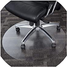 Floor Protection Mat Round Plastic Carpet Non-Slip Household Hardwood Floor Protection High Temperature Resistance PVC Tra...