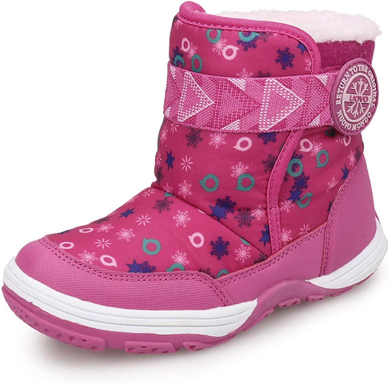 CX ECO Klettverschluss Schnee Stiefel Junge Rutschfeste Stiefel Outdoor Schneeschuhe Weiche Winterschuh Mode Lssig Wandern Reise Camping Leder Wasserdichte Rutschfestigkeit