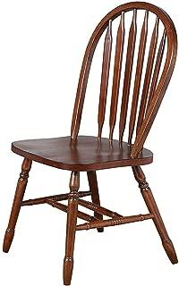 Sunsеt Trаding Arrowback Dining Chair, Set of 2, 38, Chestnut
