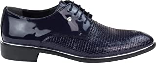 Tamboga Mens Laced Smart Casual Formal Snake Boat Shoes Patent Shiny Leather Classic