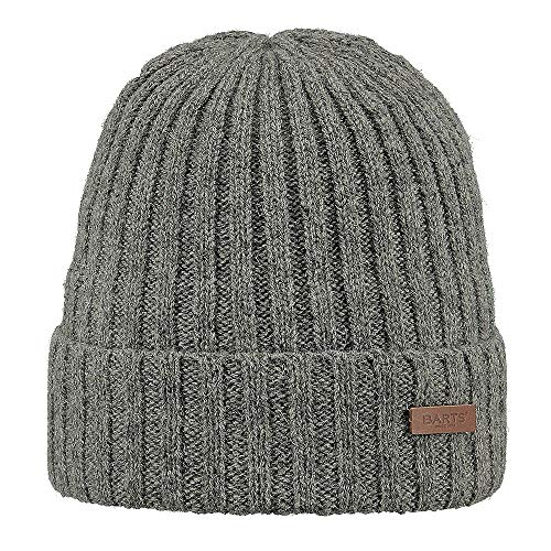 Barts Haakon Turnup Béret, Gris (Heather Grey), Unique (Taille Fabricant: Unica) Homme