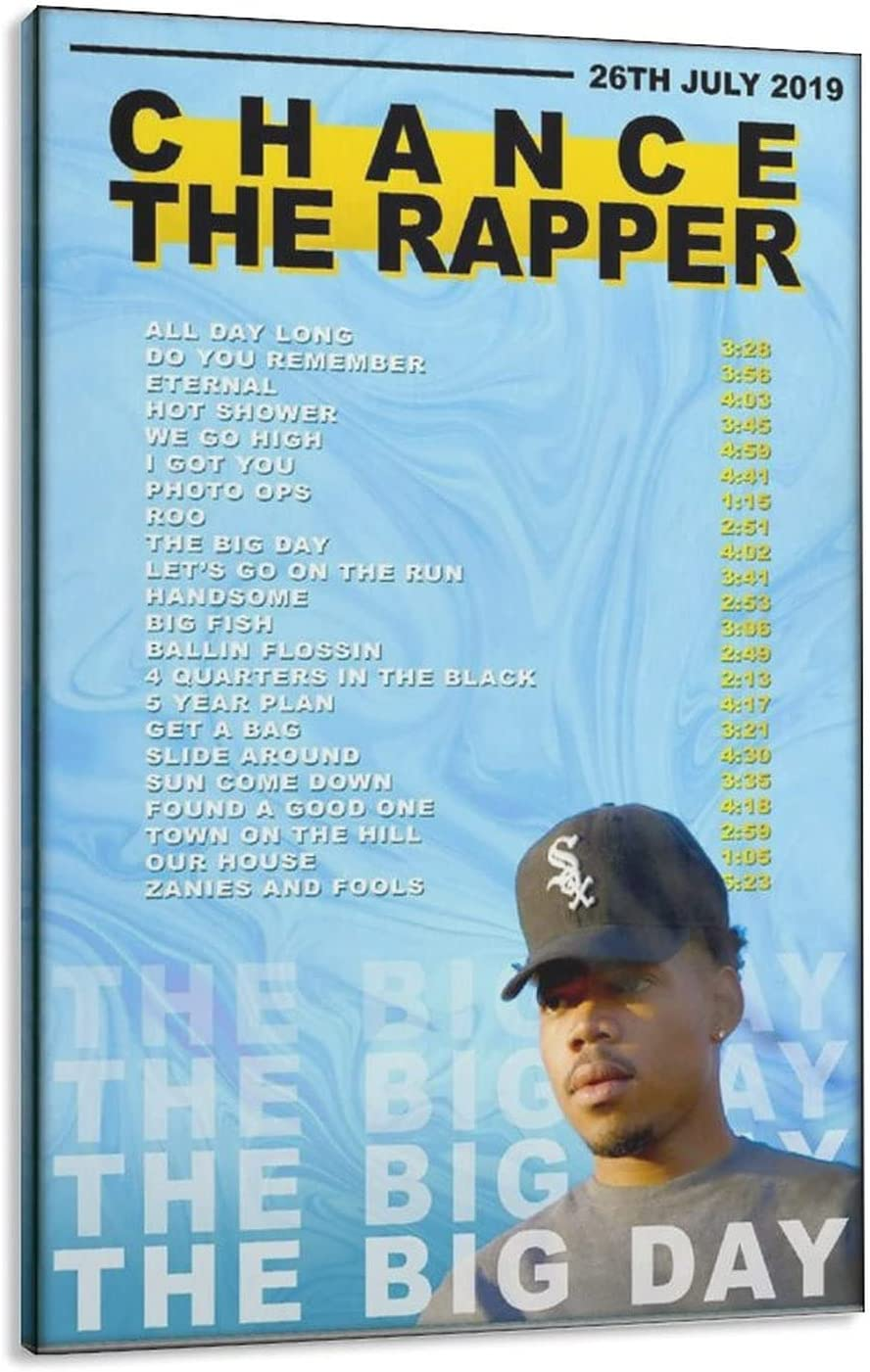 TINGMEIRAT Chance The Rapper Big Day Ca Poster Bombing new work Music Premium Year-end gift