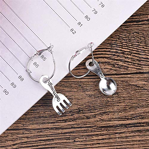 Sieraden voor vrouwenKompassen Set Vierkante oorbellen Legering Schaar Leuk Harajuku Oorbellen Dames Meisje SieradenStijl 2