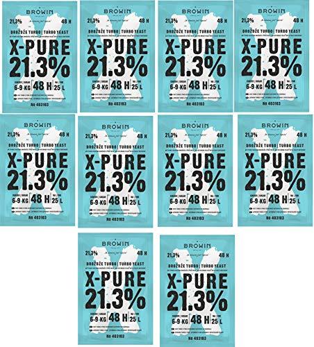 BIOWIN 10x Turbohefe 48h X-Pure 21,3% 48h - 135g Gärhefe Hefe NEUHEIT !! Das Beste !!