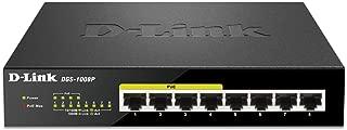 D-Link 8 Port Gigabit Unmanaged Desktop Switch with 4 POE Ports, 68W Poe Budget (DGS-1008P)