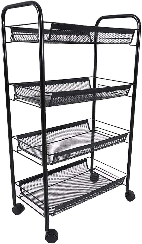 GAOYANG Shelf Wheels, Floor Multi-Layer Basket, Movable Storage Storage Shelf, Kitchen Living Room Bathroom Organizer, Corner Storage Rack