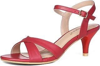 7a63de4e1 Allegra K Women s Cross Straps Kitten Heel Sandals