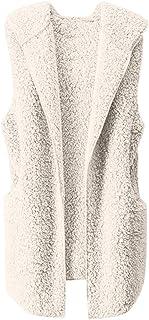 comprar comparacion Chaleco para Mujer Calentar Abrigo con Capucha de Abrigo de Invierno Abrigo Informal Chaqueta de Abrigo Chaleco sin Mangas...