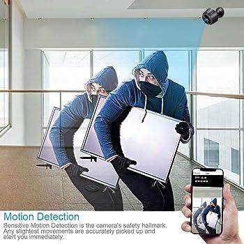 Spy Camera Wireless Hidden Camera, ZOHULU Latest Full HD 1080P WiFi Nanny Camera with 150 Wide Angle, Portable Mini S...