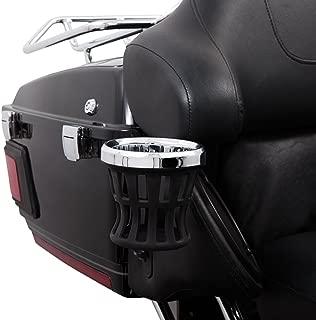 Ciro Drink Holder Passenger Perch Mount '14-up Harley-Davidson, Chrome 50422