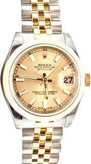 Rolex Datejust Gold Dial Women's Watch 178243
