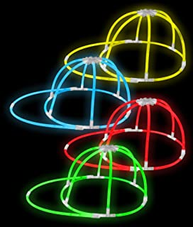 Fun Central 4 Pieces - Glow in The Dark Cap in Bulk Party Favors - Assorted Colors
