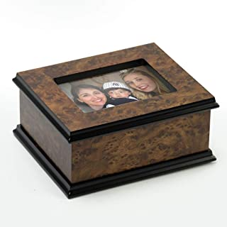 Contemporary 30 Note Classic Style 3X5 Photo Frame Music Jewelry Box - Tristesse
