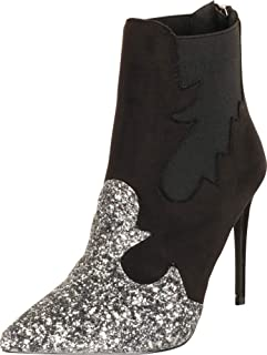 Cambridge Select Women's Western Pointed Toe Stiletto High Heel Ankle Bootie