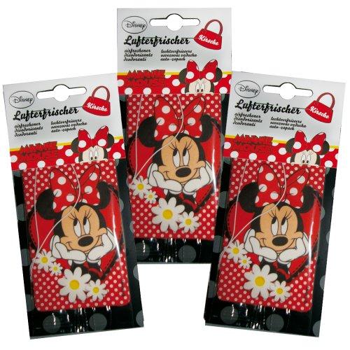 Kaufmann Neuheiten MK-LUF-613 Minnie Mouse Papierlufterfrischer, 3-er Set, Kirsche