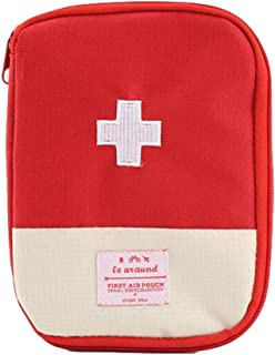 Kylin Express Portable First AID Pouch Pill Bags Medicine Storage Container Pill Case Red,1