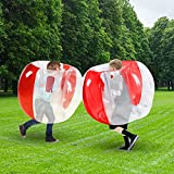 SUNSHINEMALL 1 PC Bumper Ball, Inflatable Body Bubble Ball Sumo Bumper Bopper Toys, Heavy Duty Durable PVC Vinyl Kids Adults Physical Outdoor Active Play (36inch 1pcs red+Clean)
