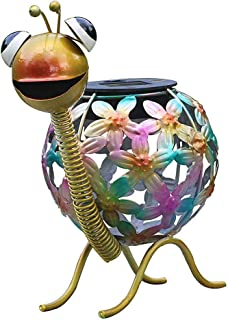 Outdoor Solar Lighting, Seven Color Changing LED Lights, Metal Art Snail Statues, Animal Garden Decorations for Gardens, backyards, Roads, lawns, Yard Art Decorations