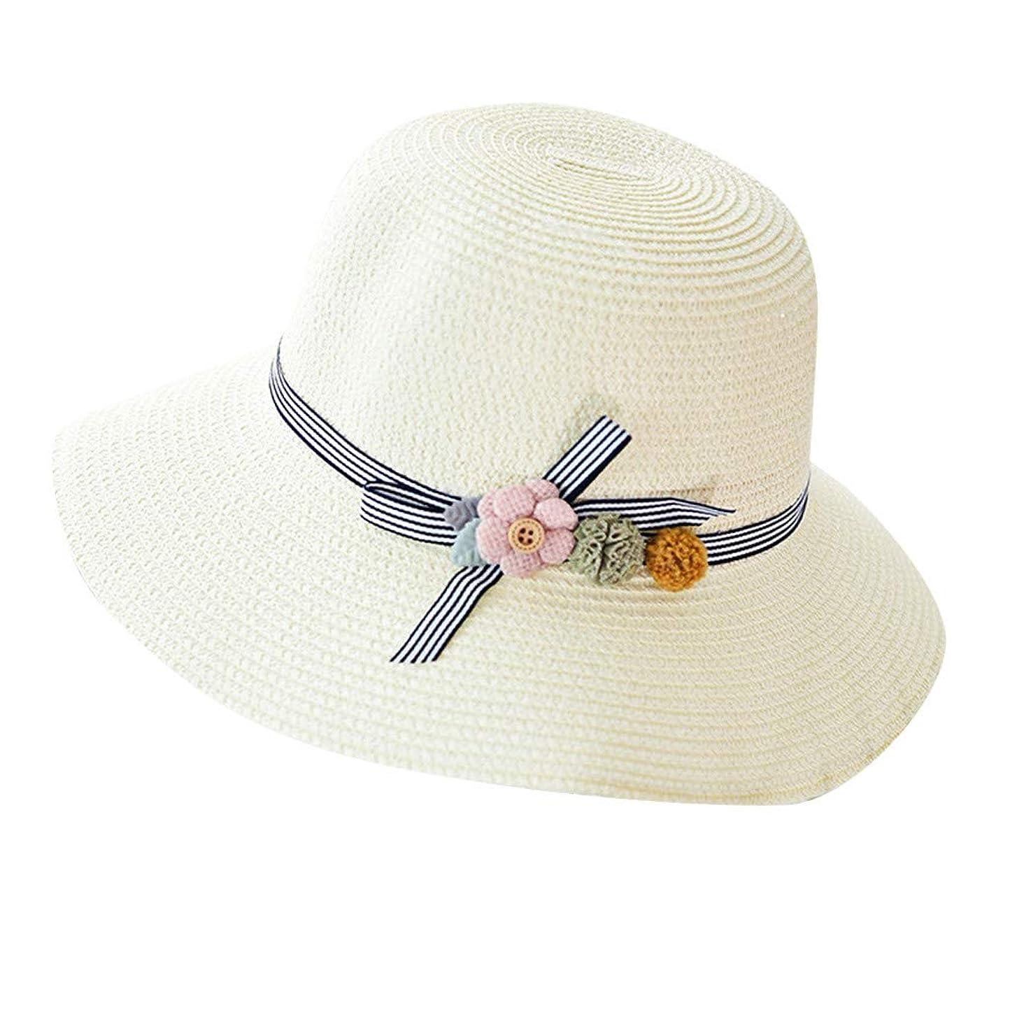 熱狂的な監督するなぜ漁師帽 夏 帽子 レディース UVカット 帽子 ハット レディース 紫外線対策 日焼け防止 つば広 日焼け 旅行用 日よけ 夏季 折りたたみ 森ガール ビーチ 海辺 帽子 ハット レディース 花 ROSE ROMAN