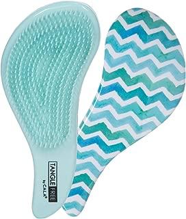 Cala New tangle free frenchie blue chevron hair brush