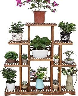 FJFSC Flower Rack Plant Stands Solid Wood Flower Pot Stands/Multi-storey Wooden Display Racks/Garden Decoration Wooden She...