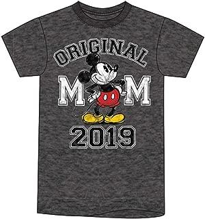 Disney Plus Size 2019 Dated Original Mickey Black Heather Tee