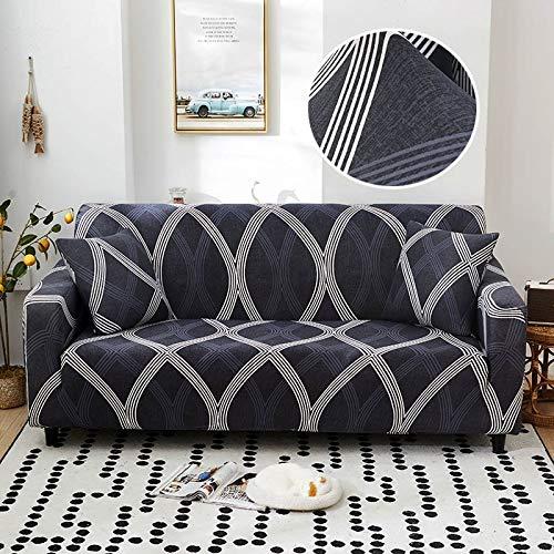 ASCV Fundas de sofá elásticas geométricas para Sala de Estar Funda de sofá Moderna para Silla de sofá de Diferentes Formas Funda de sofá Estilo L A4 4 plazas