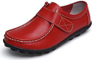 Yooeen Mocassins Femme Chaussures de Travail Plates Loafers en Cuir Loisir Casual Bateau Chaussures de Conduite de Ville