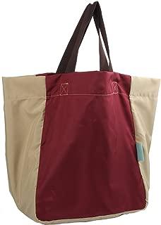 iSuperb Foldable Shoulder Tote Lightweight Waterproof Roomy Big Bag Handbag for Travel Shopping Outdoor (Wine)
