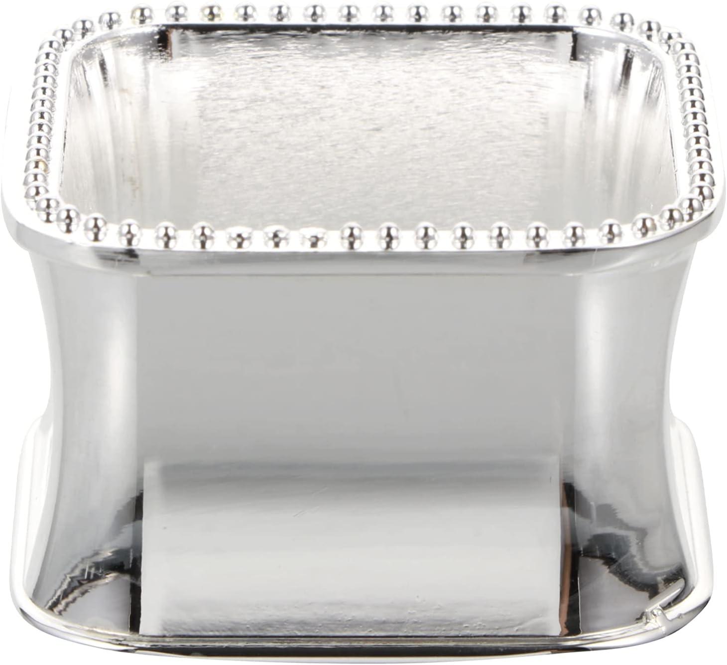 HEMOTON Stainless New life Steel Bead Side free shipping Rings Delicate Napkin Serviett