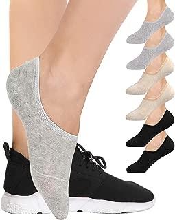 6 Pairs No Show Socks For Women, BESTENA Women's Cotton...