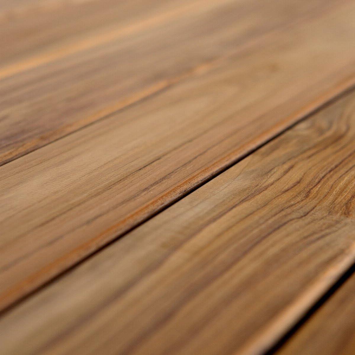 Tablones de terraza de madera de teca grosor 19 mm de BioMaderas/®; anchura 95 mm Marr/ón