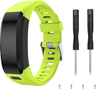 Junboer Compatible Garmin Vivosmart HR Watch Band, Accessories Silicone Replacement Wrist Watch Strap for Garmin Vivosmart HR SmartWatch(NOT for Vivosmart HR+), Only for 4PK (Green)