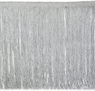 Expo International 10-Yard Metallic Chainette Fringe Trim, 12-Inch, Silver
