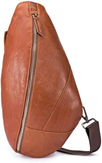 Asdfnfa Backpack, Sling Bag Unbalance Backpack, Anti-Scratch Waterproof Crossboby Shoulder Pack for Outdoor Cycling, Running, Hiking, Climbing and Travel (Color : Brown)