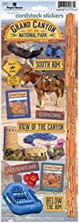 Paper House Grand Canyon Travel & Vacation Cardstock Scrapbook Stickers (1-Pack), STCX0190