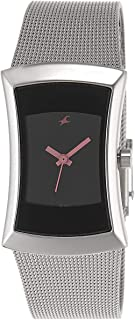 Fastrack Fits and Forms Women's Black Dial Stainless Steel Band Watch - T6093SM01