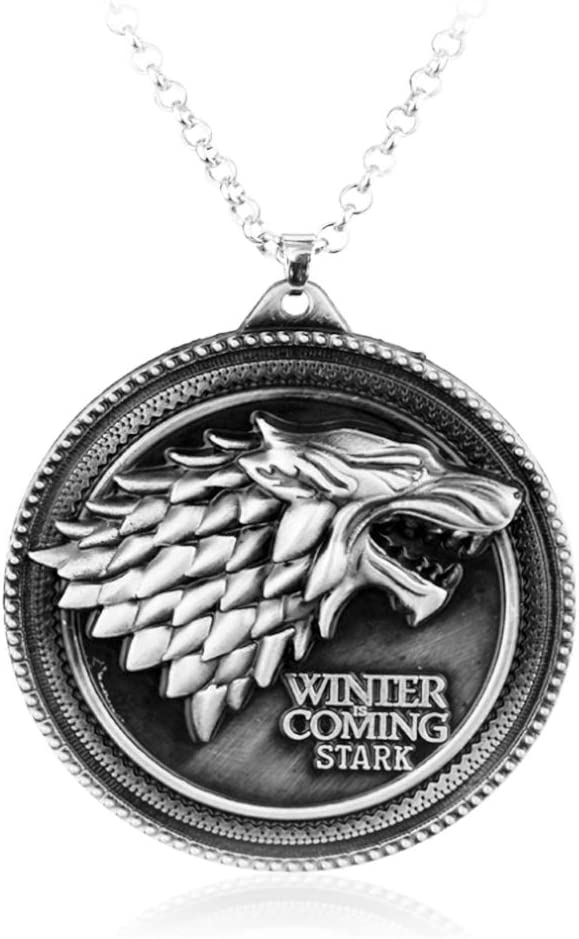 Reddream Game of Thrones Keychain Pendant Charms Gifts for Boy Girl Best Friend and Collection (Necklace - stark )