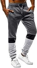 ANJUNIE Mens Workout Jogger Casual Waistband Sport Trousers Training Cuffed Yoga Capri Pant