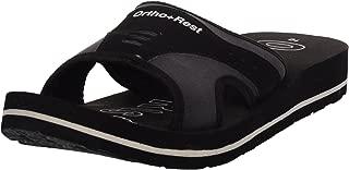 Ortho + Rest Black Slippers for Men
