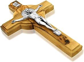 St. Benedikt Kreuz Olivenholz Kruzifix, 25.40 cm