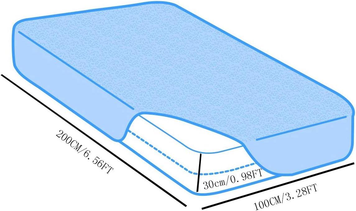 HJGHY La Housse de Protection du Matelas s'étend jusqu'à 30 cm de Profondeur - Imperméable pour Matelas Profond, Ultra Doux, Respirant,140x200cm 100x200cm