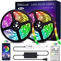 Elfeland LED Strip 32.8FT/10M 300 LEDs IP65 5050 RGB Strip Lights Kit