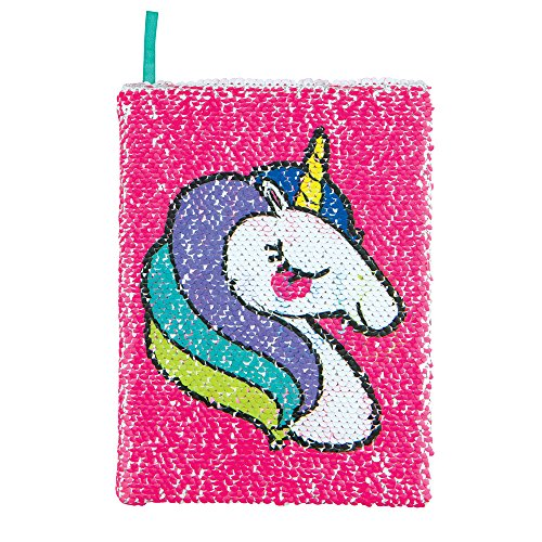 Style.Lab by Fashion Angels Magic Sequin Journal Unicorn / Make Magic Happen (76974) Reversible Sequin, 80 Page Lined Journal