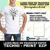 Laser Heat Transfer Paper, for Light Fabric - Techni Print EZP- 10 Sheets - 8.5' x 11'