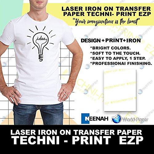"Laser Transfer for White Fabric,""NEENAH Techni-Print EZP"" (11""X17"") 100Pk :)"