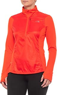 The North Face Brave the Cold Windbreaker Jacket - Zip Neck (For Women) in Fire Brick Red -Medium