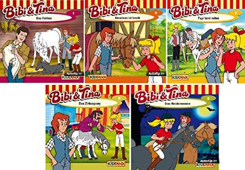 Bibi & Tina - Hörspiel zur Zeichentrick TV-Serie - CD 1-5 im Set - Deutsche Originalware [5 CDs]